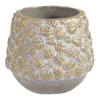 Chico Pinecone Cauldron Gold D16H13.5