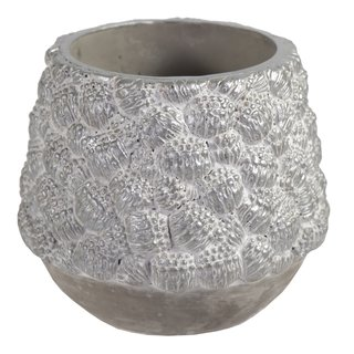 Chico Pinecone Cauldron Silver D20.5H18.5