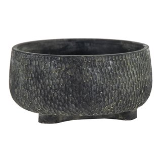 Diara Dent Bowl Dark Grey D20H10