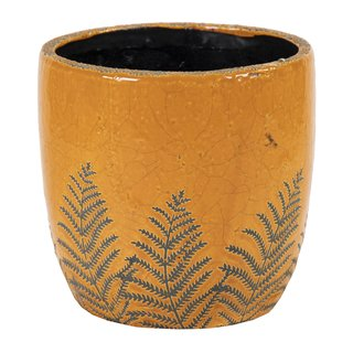 Shine Fern Egg Pot Honey D14.5H13