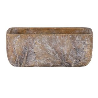 Tiza Leaf  Rectangular Natural L25W11H10.5