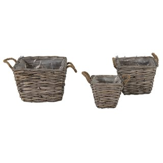 Bobs Bush Basket Square Grey S3 W15/26H14/20